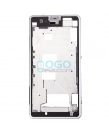Front Housing Bezel Replacement for Sony Xperia Z1 Compact/Z1 Mini - White