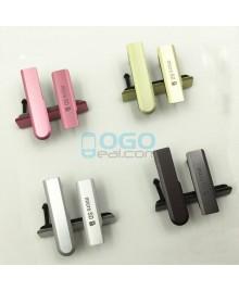 OEM Micro SD & USB Anti Dust Plug Cap Cover for Sony Xperia Z1 Compact/Z1 Mini Yellow