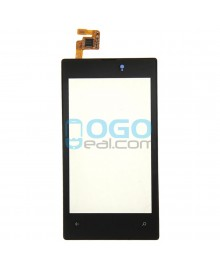 Digitizer Touch Glass Panel with Frame Replacement for Nokia Lumia 520 Black