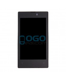 LCD & Digitizer Touch Screen Assembly With Frame replacement for Nokia Lumia 520 - Black