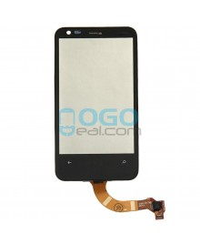 Digitizer Touch Glass Panel with Frame Replacement for Nokia Lumia 620 Black