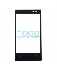 Front Outer Screen Glass Lens Replacement for Nokia Lumia 720 - Black