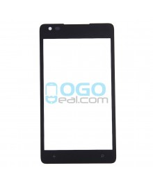 Front Outer Screen Glass Lens Replacement for Nokia Lumia 900 - Black