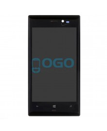 LCD & Digitizer Touch Screen Assembly With Frame replacement for Nokia Lumia 928 - Black