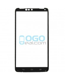Front Outer Screen Glass Lens Replacement for Motorola Droid Turbo 2 - Black