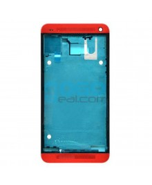 Front Housing Bezel Replacement for HTC One M7 - Red