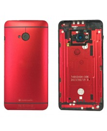 Battery Door/Back Cover Replacement for HTC One M7 - Red