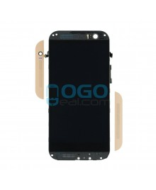 LCD & Digitizer Touch Screen Assembly With Frame replacement for HTC One M8 - Gold