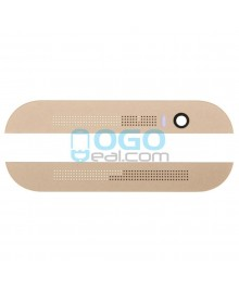 Top and Bottom Glass Cover Replacement for HTC One M8 - Gold
