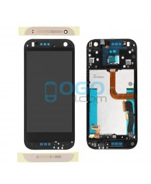 LCD & Digitizer Touch Screen Assembly With Frame replacement for HTC One Mini 2 - Gold