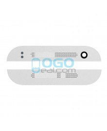 Top and Bottom Glass Cover Replacement for HTC One Mini 2 - Silver