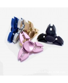 Factory Wholesale Aluminum Alloy Tri-Spinner Fidget Hand Spinner Finger Gyro Torqbar Mixed Color