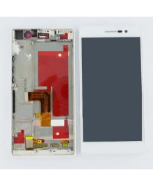 For Huawei Ascend P7 LCD & Touch Screen Assembly With Frame Replacement- White