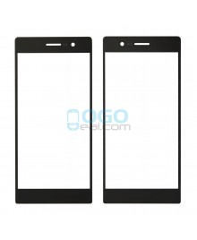 Front Outer Screen Glass Lens Replacement for Huawei Ascend P7 Black