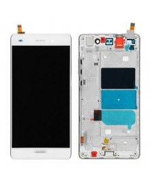 For Huawei Ascend P8 Lite LCD & Touch Screen Assembly With Frame Replacement- White