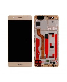 For Huawei Ascend P9 LCD & Touch Screen Assembly With Frame Replacement - Gold