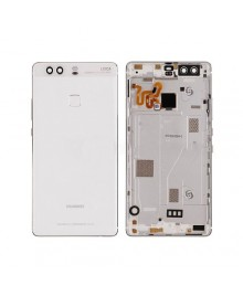 Battery Door with Fingerprint Flex Cable for Huawei Ascend P9 Plus - White