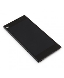 LCD & Digitizer Touch Screen Assembly With Frame Replacement for Xiaomi Mi 3 WCDMA Version - Black