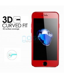 iPhone 7 Full Coverage 9H 3D Curved Tempered Glass Screen Protector Film Red With retail Packing Box