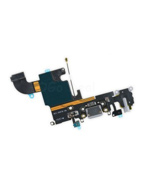 For Apple iPhone 6S Charging Dock Connector and Headphone Jack Flex Cable Replacement, High Quality, Dark Gray
