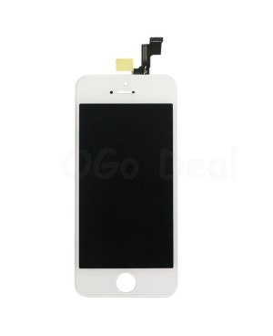 For Apple iPhone 5S Digitizer and LCD Screen Assembly with Frame Replacement - White(TM)