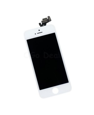 For Apple iPhone 5 Digitizer and LCD Screen Assembly with Frame Replacement - White(Self Assembly)