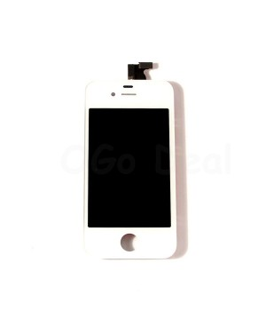 For Apple iPhone 4S Digitizer and LCD Screen Assembly with Frame Replacement - White