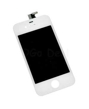 For Apple iPhone 4 Digitizer and LCD Screen Assembly with Frame Replacement - White