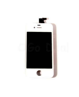 For Apple iPhone 4 CDMA Digitizer and LCD Screen Assembly with Frame Replacement - White