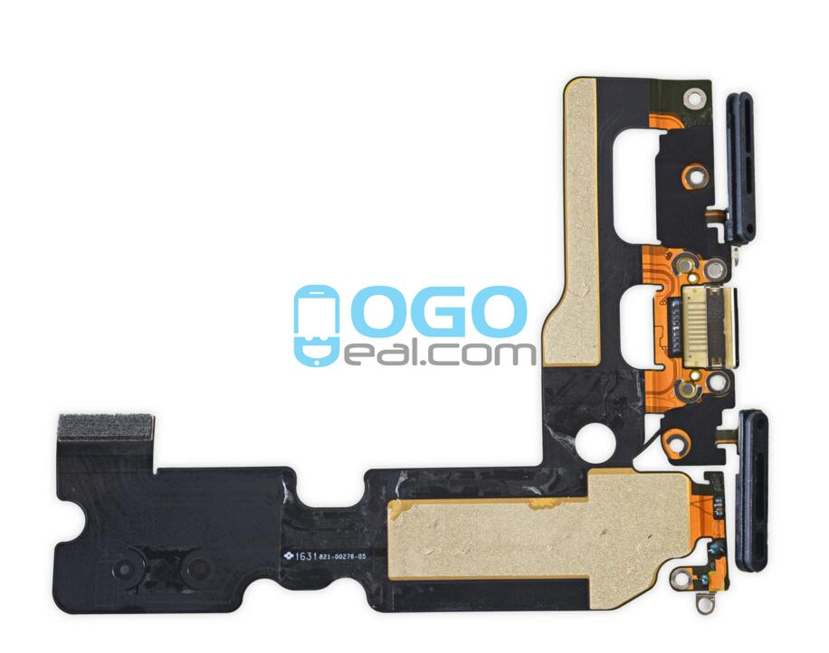 huge selection of e85bb 4e39f For Apple iPhone 7 Plus Charging Port Dock Connector Flex Cable  Replacement, Premium, Black
